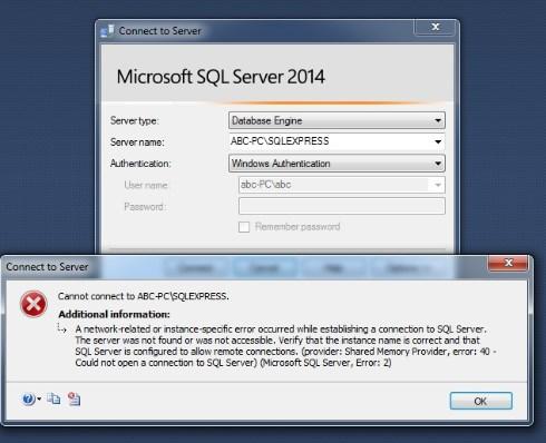 SQL Server Service stopped error
